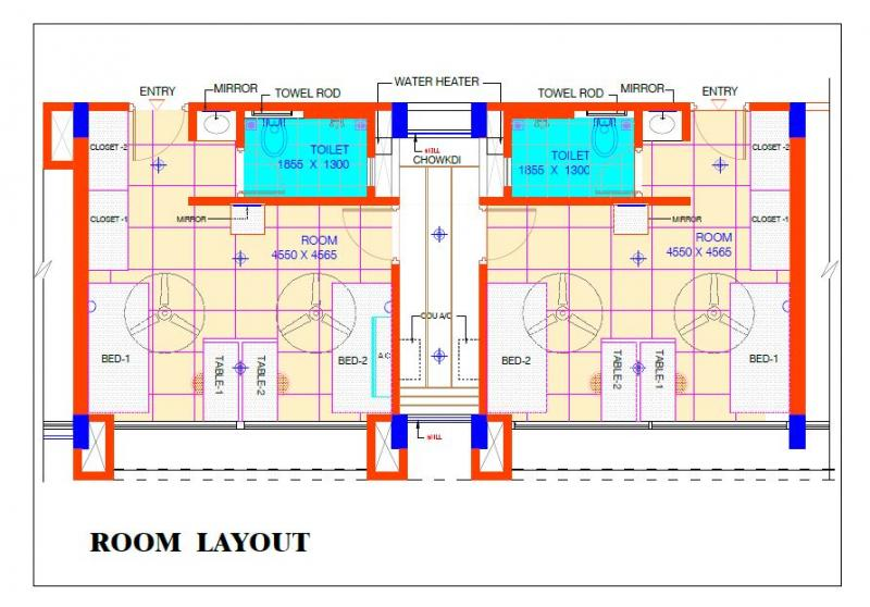 Hostel room plan images galleries for Software for planning room layouts